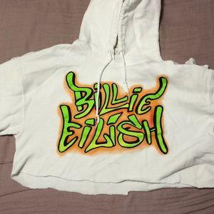 cropped billie eilish hoodie